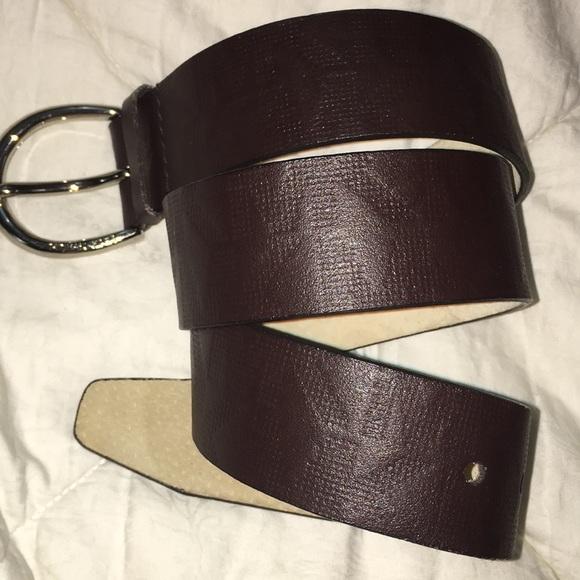 Michael Kors genuine leather brown logo belt M NEW